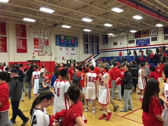 Centennial celebrates its win and prepares for the next game.