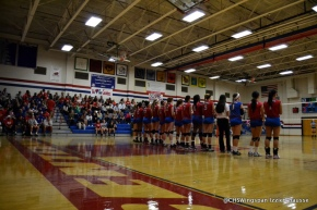 Volleyball Loses to Howard on SeniorNight