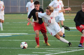 Boys' Soccer Wins Senior Night Game