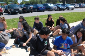 Students Enjoy Summer Weather